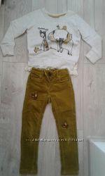 Комплект Next брюки, джемпер для девочки 4-6 лет