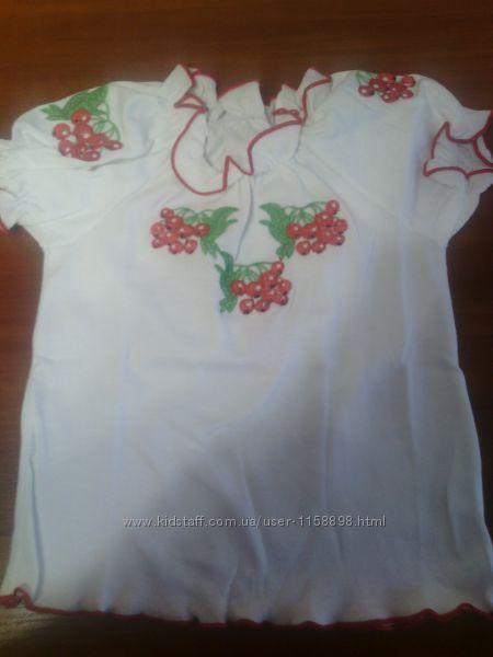 Новая вышиванка для девочки 3-4 года