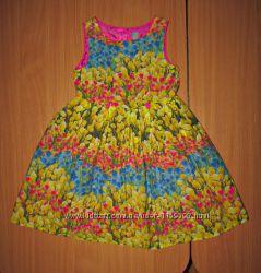 Платье тюльпаны супер красивое TU пышное платье сарафан и Темно синее