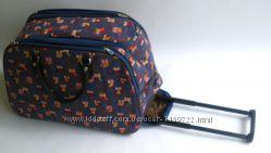 Дорожная сумка на колесах, с выдвижной ручкой, среднего размера