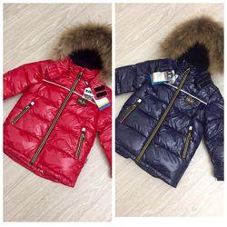 Стильная зимняя куртка для мальчиков Kiko 5804 110 - 134 размер