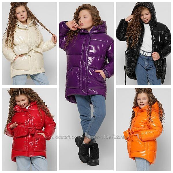 Зимняя лаковая куртка для девочек DT-8300 X-Woyz 110-158 р
