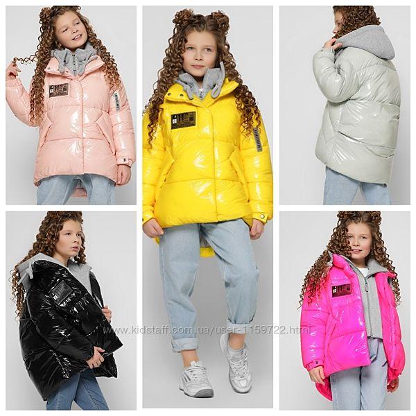 Зимняя лаковая курточка X-Woyz DT-8310 110-134 р.