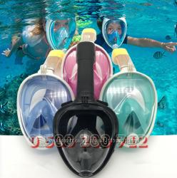 Маска FREEBREATH 2018 подводная, для плавания. Детские от 4-х лет