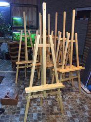 Мольберт для картин деревянный, тренога, лира