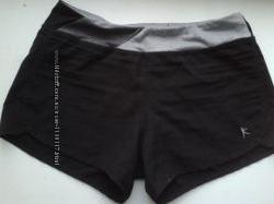 Cпортивные шорты-плавки двойные черные Dri more.
