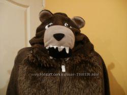 Слип, кегуруми, человечек, комбинезон, пижамa медведь