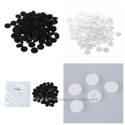 Маленькие черные, белые и  амбушюры на капельки 16-18 мм