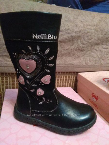 Акция Демисезонные сапожки для девочек Nelli blu Польша
