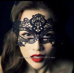 Маска ажурная эротическая, эротическое белье, маска карнавальная, для игр