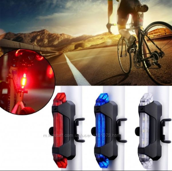 USB велофонарь фонарь передний задний для велосипеда