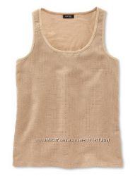 Стильная майка блуза с перфорацией под замшу эко хлопок TCM Tchibo Германия