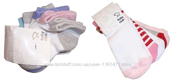 Носочки для девочки набор 5 пар носки хлопок бренд C&A Германия р.3-9 мес