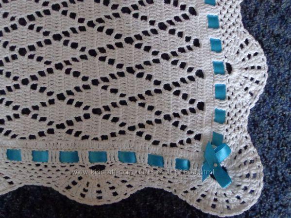Вязание крючком пледики для новорожденных 25