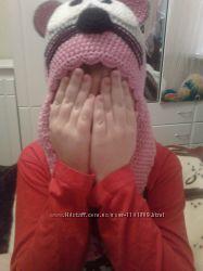 Детская вязаная  шапка.