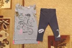 Модная туника, футболка на 12-18мес, больше мерит.