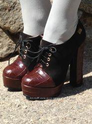 ботильоны на каблуке шнуровка