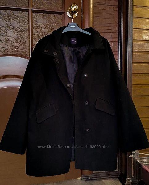 Черное короткое женское пальто promod 36 eur