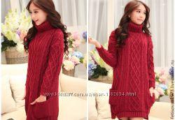 Платье-свитер спицами на заказ