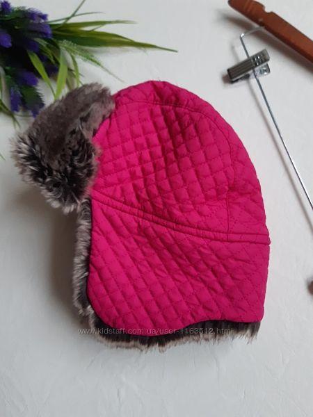 Тёплая фирменная шапка