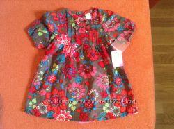 Новый комплект вельветовое платье и трусики ТМ Мах на 0-3, 3-6 и 6-9 мес
