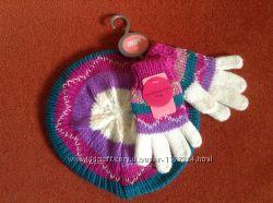 Новый комплект берет и перчатки ТМ Мах на 3-4-5 лет
