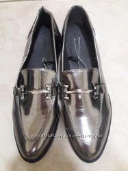 Новые лаковые серебрянные туфли ТМ Мах 39-40 р-ра 26. 5 см