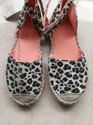 Новые туфли H&M 29 р-ра 18 см леопардовый принт