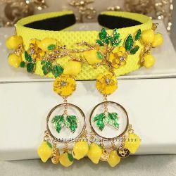 Набор серьги и ободок в Dolce&Gabbanaлимончик