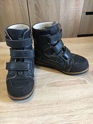 Зимние ортопедические сапоги на липучках в стопа 18-19 мм