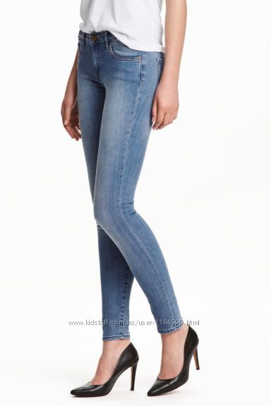 Женские джинсы Super Skinny Low Jeans от H&M Размер 2630 Длина 98см