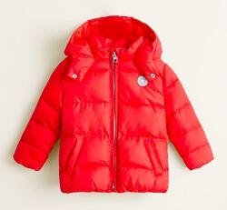 Красная осенняя куртка для девочки Mango Kids Испания Размер 98 оригинал