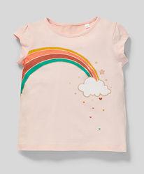 Летняя футболка для девочки C&A Palomino Германия Размер 116, 128 оригинал