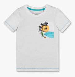 Белая футболка на мальчика 9-10 лет C&A Palomino Германия Размер 140