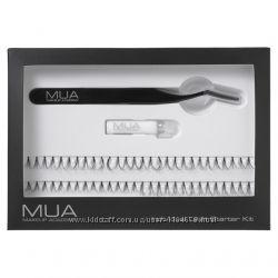Набор пучковых ресниц с пинцетом и клеем Mua individual lash starter kit