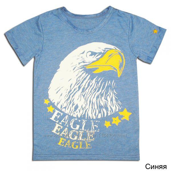 Готовимся к лету. Стильные легкие футболочки для мальчика. Р.  134.