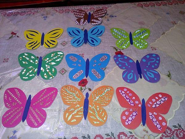 Бабочки бумажные
