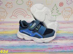 01801e43 детские кроссовки на массивной подошве голубые на резинке 26-30р ...