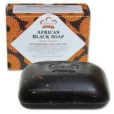 Африканское чёрное мыло Nubian Heritage, 140 г
