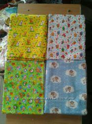 пеленки ситец и байка для малышей