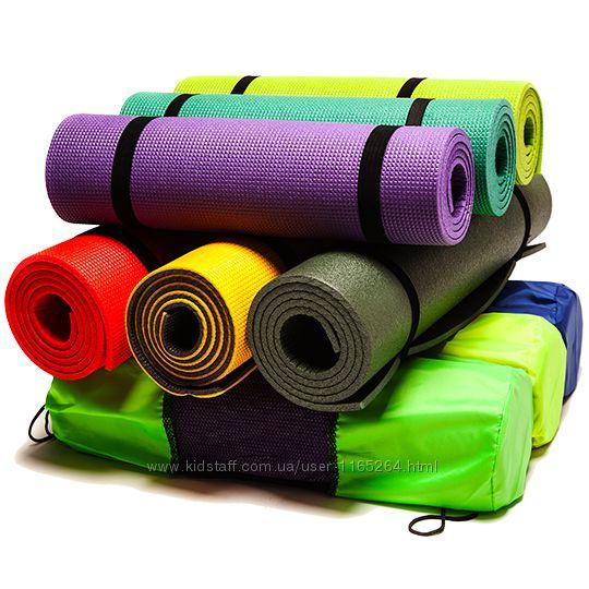 Коврики для фитнеса, йоги, аэробики и танцев