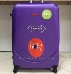 Большой фиолетовый чемодан Gravitt  75 см Валіза сумка Польша