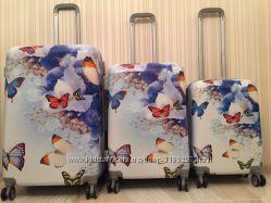 Чемодан бабочка, дорожная сумка, валіза метелик