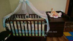 Комплект детская кроватка Верес ЛД12 Соня и комод-пеленаторсостояние новог