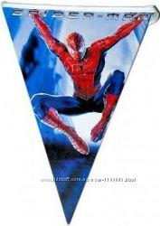 Гирлянды, флажки, воздушные шары человека- паука