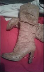 Зимние кожаные сапоги на цегейке Bessini, 37 размер