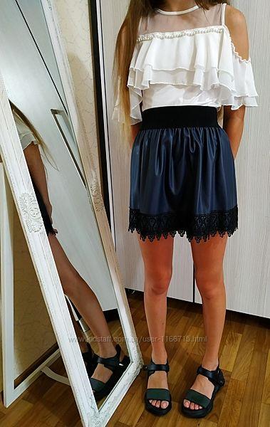 Блуза с жемчугом Unsea, реально с 8 до 12 лет