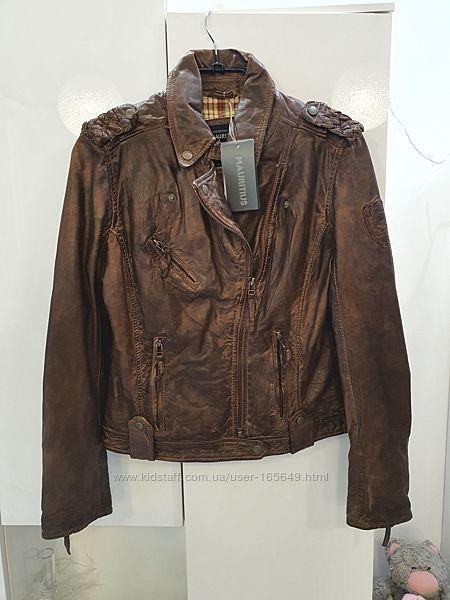 Кожаная куртка косуха Mauritus