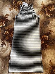 Платье сарафан тельняшка  оригинал MANGO
