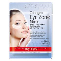 Коллагеновые патчи под глаза Purederm Collagen Eye Zone Mask